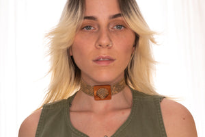 Brown Python Choker Necklace,ChokersMindFlowers