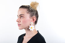 Load image into Gallery viewer, The Double Daisy Stud Earrings On Model