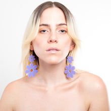 Load image into Gallery viewer, Double Dazey Dangle Earrings on Model