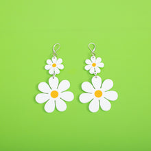 Load image into Gallery viewer, The Double Daisy Dangle Earrings,EarringMindFlowers