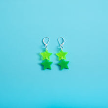 Load image into Gallery viewer, Double Star Dangle Earrings,EarringMindFlowers