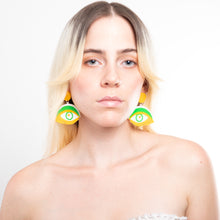 Load image into Gallery viewer, Sixties Inspired Earrings - Acrylic Jewelry, MindFlowers Earrings, MindFlowers Psychedelic Jewelry, Statement, Accessories, Vintage