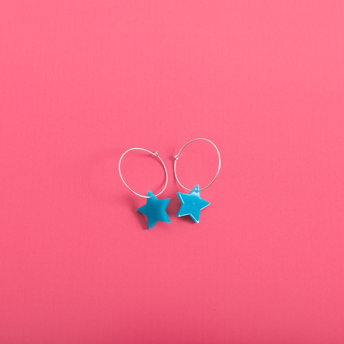Fallen Star Hoop Earrings,EarringMindFlowers