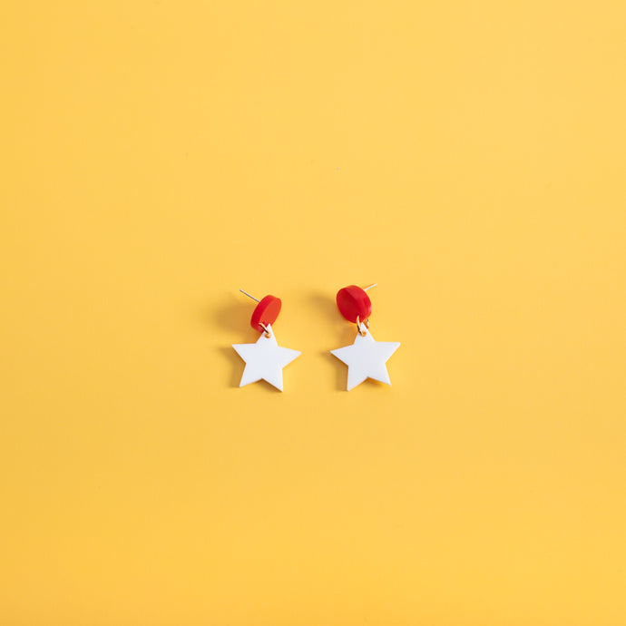 Fallen Star Hanging Stud Earrings,EarringMindFlowers