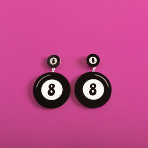 The Double Magic 8-Ball Stud Earring