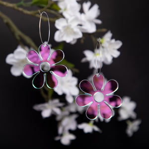 The Hazey Dazey Hoop Earrings,EarringMindFlowers
