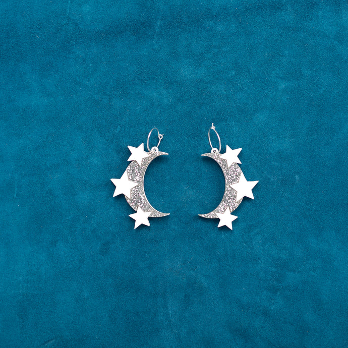 Space Oddity Moon Hoops