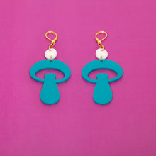 Load image into Gallery viewer, The Alice Mushroom Dot & Chain Earrings,EarringMindFlowers