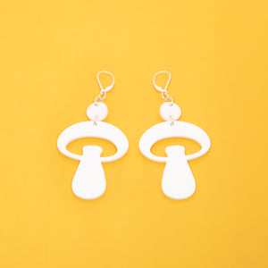 The Alice Mushroom Dot & Chain Earrings,EarringMindFlowers
