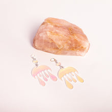 Load image into Gallery viewer, Melting Moon Dot & Chain Earrings,EarringMindFlowers