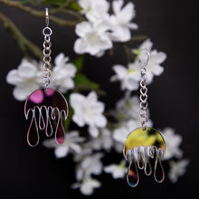 Load image into Gallery viewer, Melting Moon Chain Earrings,EarringMindFlowers