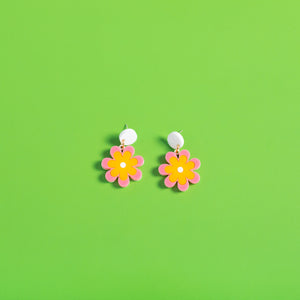 The Baby Candy Daisy Hanging Stud Earrings,EarringMindFlowers