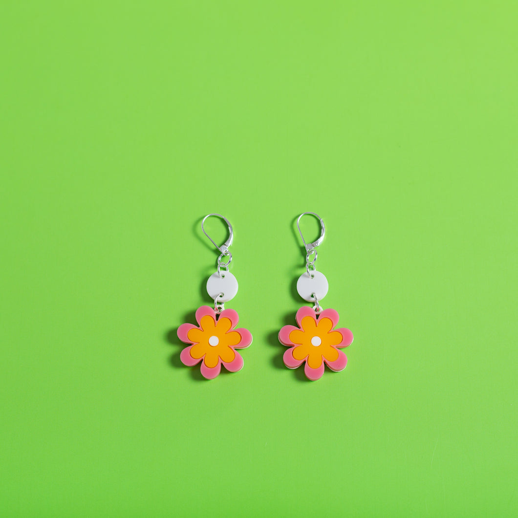 The Baby Candy Daisy Dot & Chain Earrings,EarringMindFlowers