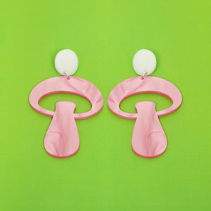 The Alice Mushroom Stud Earrings,EarringMindFlowers