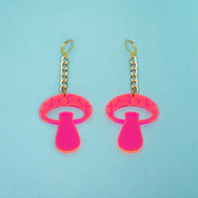 The Mooshroom Chain Earrings,EarringMindFlowers