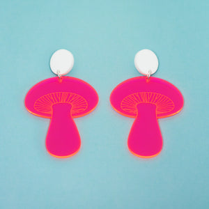 The Gilly Mushroom Stud Earrings,EarringMindFlowers