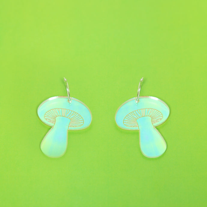 The Gilly Mushroom Hoop Earrings,EarringMindFlowers