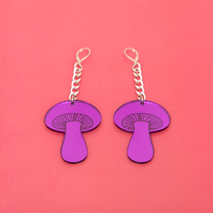 The Gilly Mushroom Chain Earrings,EarringMindFlowers