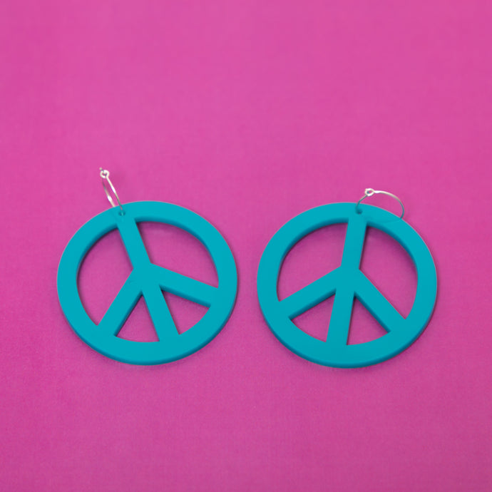 The Peace Hoop Earrings,EarringMindFlowers