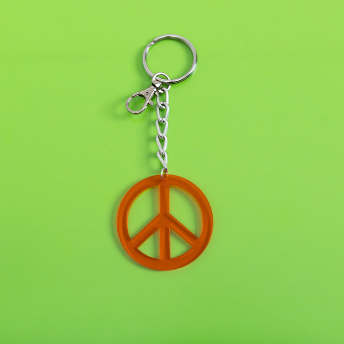 Peace Sign Keychain,FlairMindFlowers