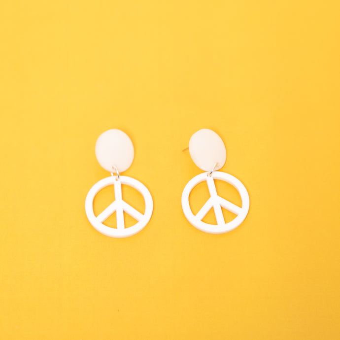 The Peace Stud Earrings,EarringMindFlowers
