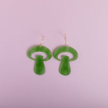 Load image into Gallery viewer, The Alice Mushroom Hoop Earrings
