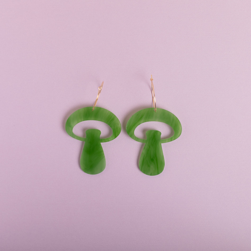 The Alice Mushroom Hoop Earrings