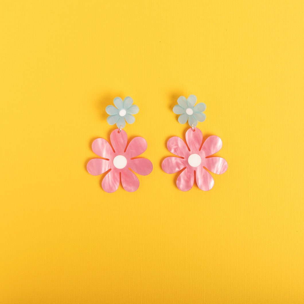 The Double Daisy Stud Earrings