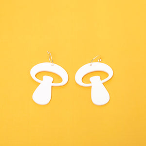 The Alice Mushroom Hoop Earrings,EarringMindFlowers