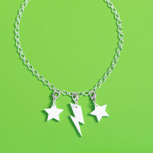 Ziggy Bolt Necklace Charm,Necklace CharmMindFlowers