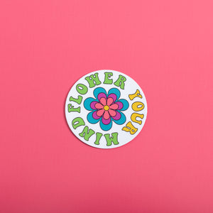 Flower Your Mind Sticker,FlairMindFlowers
