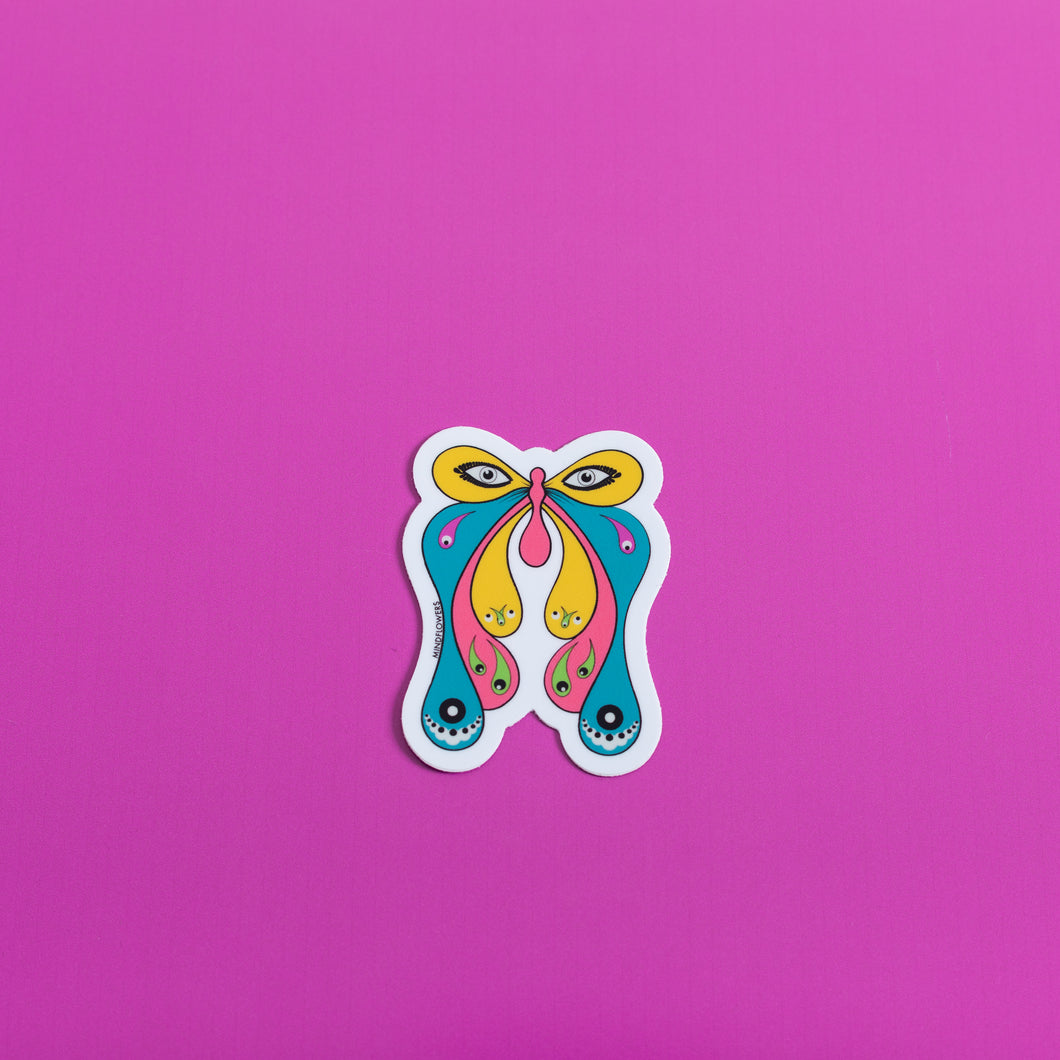 Third Eye Butterfly Sticker,FlairMindFlowers