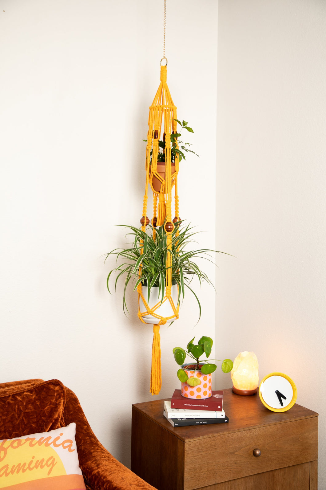 The Kassia Double Macrame Plant Hanger