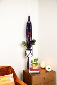 The Iris Double Macrame Plant Hanger