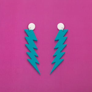 The ZiggyIggy Bolt Stud Earrings,EarringMindFlowers