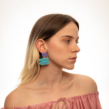 Load image into Gallery viewer, The Aquarius Sign Hanging Stud Earrings,EarringMindFlowers