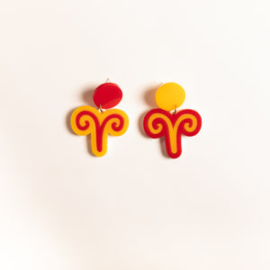 The Aries Sign Hanging Stud Earrings,EarringMindFlowers