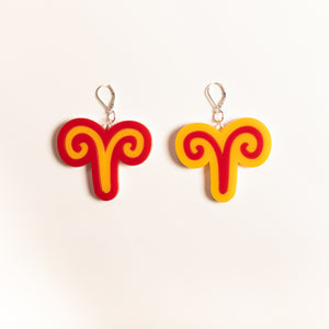 The Aries Sign Dangle Earrings,EarringMindFlowers