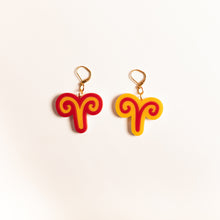 Load image into Gallery viewer, The Aries Sign Dangle Earrings,EarringMindFlowers