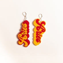 Load image into Gallery viewer, The Aries Word Dangle Earrings,EarringMindFlowers