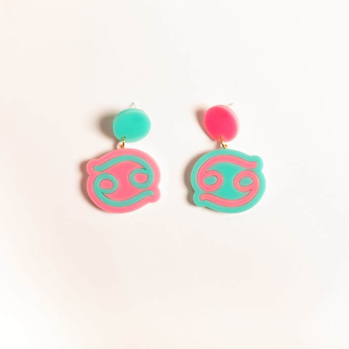 The Cancer Sign Hanging Stud Earrings,EarringMindFlowers