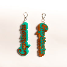 Load image into Gallery viewer, The Capricorn Word Dangle Earrings,EarringMindFlowers