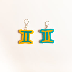 The Gemini Sign Dangle Earrings,EarringMindFlowers
