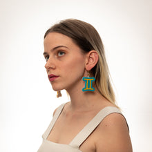 Load image into Gallery viewer, The Gemini Sign Dangle Earrings,EarringMindFlowers