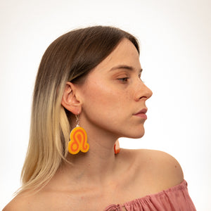 The Leo Sign Dangle Earrings,EarringMindFlowers