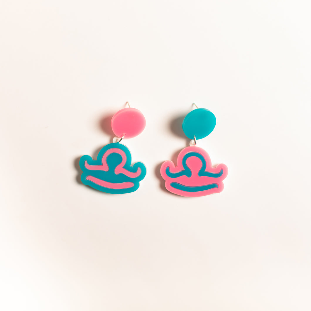 The Libra Sign Hanging Stud Earrings,EarringMindFlowers