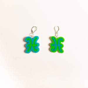 The Pisces Sign Dangle Earrings,EarringMindFlowers