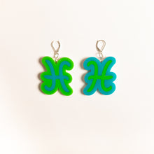 Load image into Gallery viewer, The Pisces Sign Dangle Earrings,EarringMindFlowers