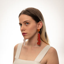 Load image into Gallery viewer, The Sagittarius Word Hanging Stud Earrings,EarringMindFlowers