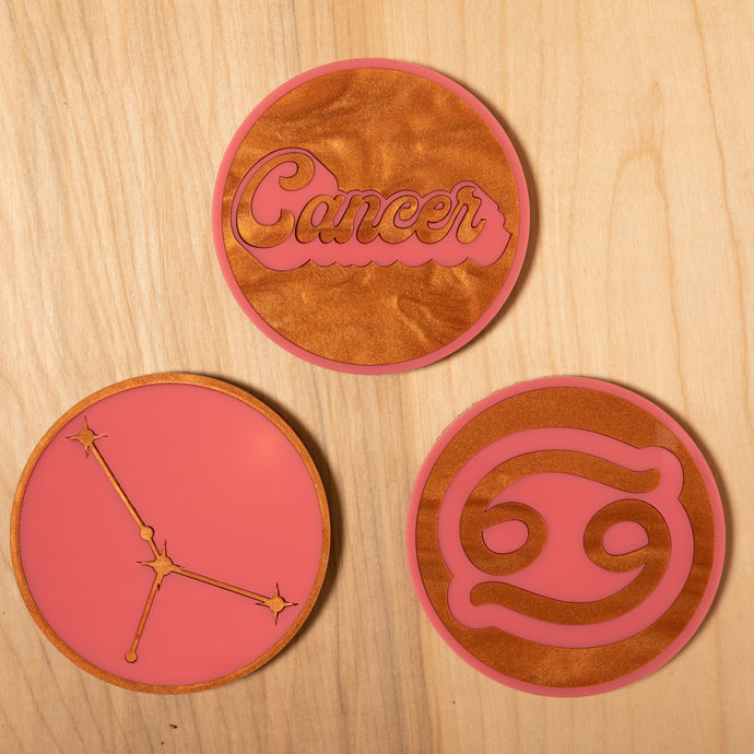 The Cancer Zodiac Coasters
